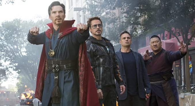 Dr Strange, Iron Man, Hulk et Wong contre l'Ordre Noir, les seides de Thanos