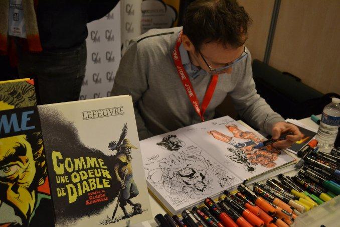 Laurent Lefeuvre en dédicace à Paris Manga