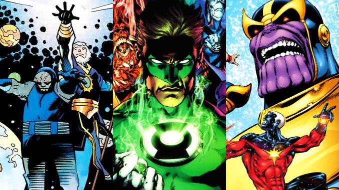 grandes sagas cosmique marvel et dc comics
