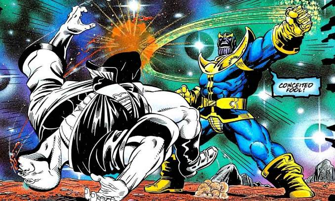 thanos combat doyens de l'univers