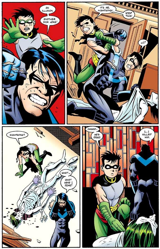 dick grayson robin titans tue le Joker