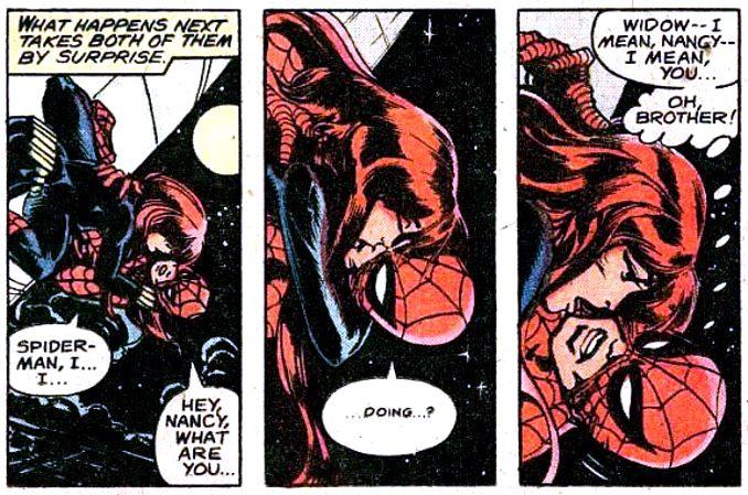 la vie sexuelle des superhéros spider-man veuve noire