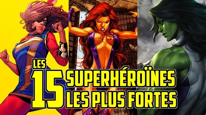 Les 15 superhéroïnes les plus fortes des comics et qui surpassent les hommes !