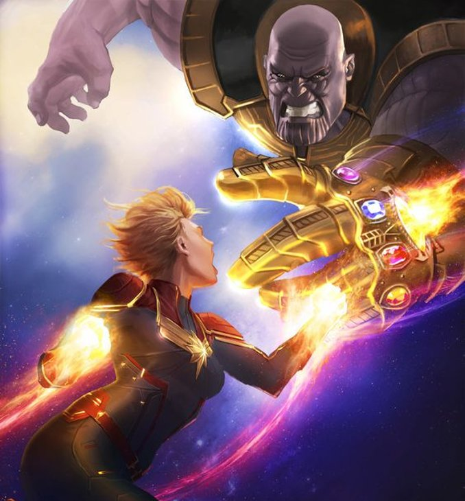 Captain Marvel contre Thanos