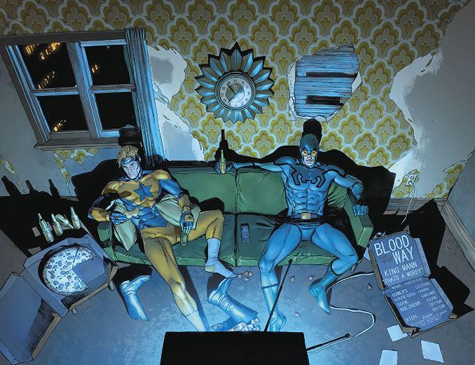 Heroes in Crisis Bosster Gold Blue Beetle