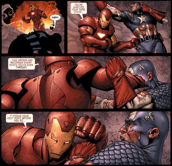 combat Captain America Iron Man