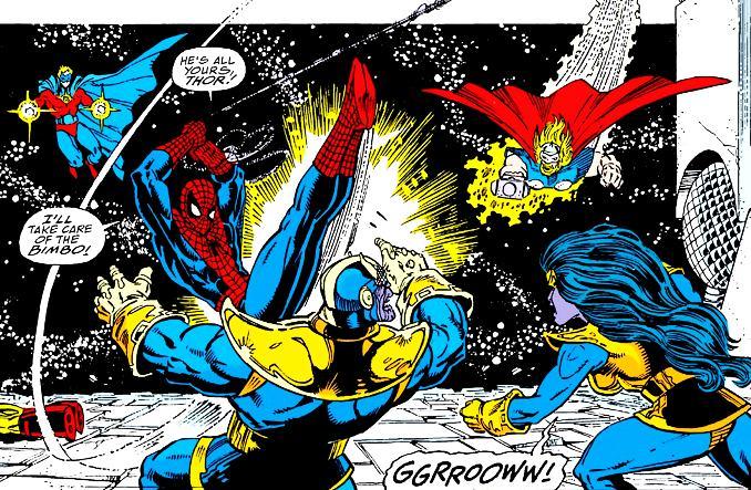 combat héros Marvel Thanos