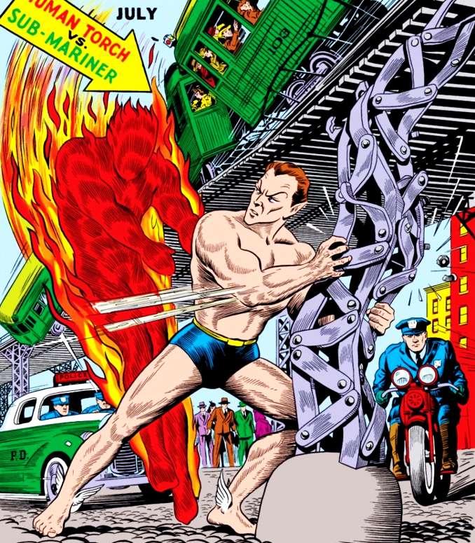combat Torche humaine Namor