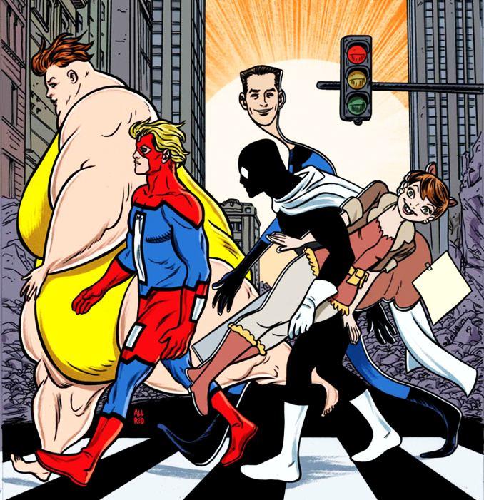 équipe superhéros nuls