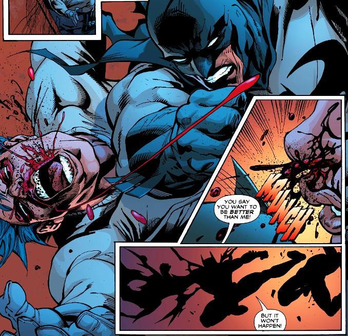 combat Batman Red Hood