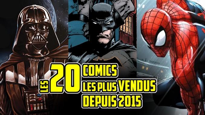 meilleures ventes comics depuis 2015