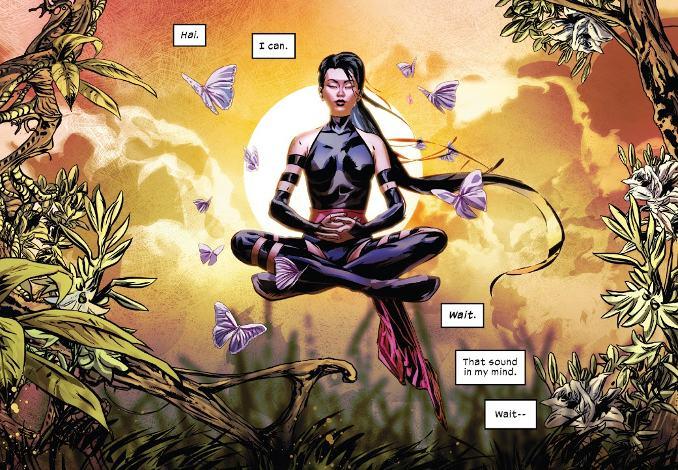 Fallen Angels 1 meditation psylocke kwannon