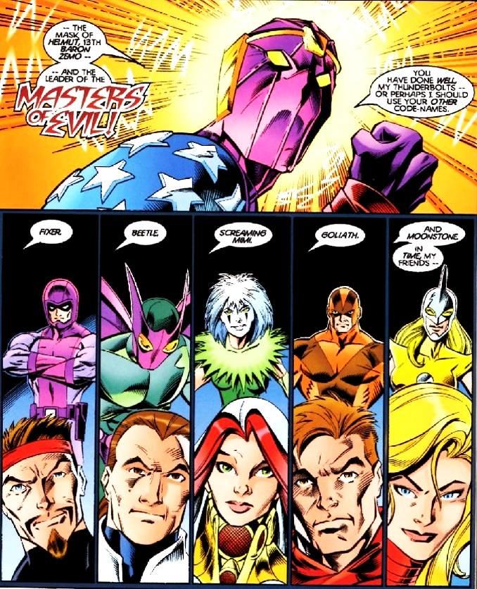 équipe Thunderbolts baron zemo originaux