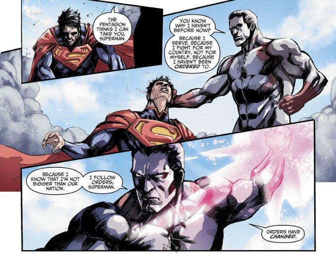 superman vaincu captain Atom