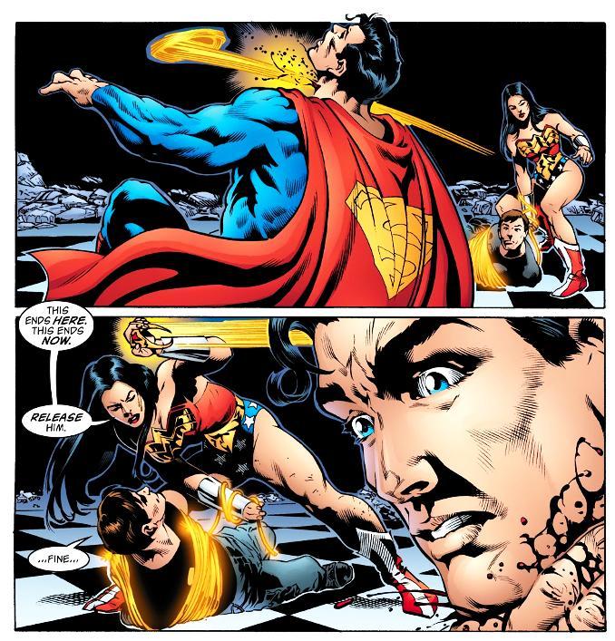 superman vaincu wonder woman
