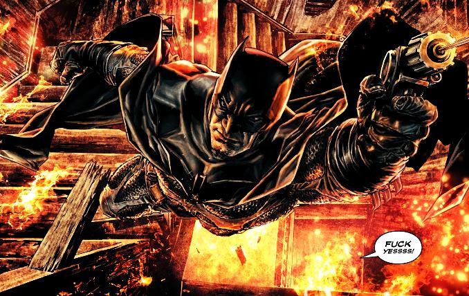 Batman Damned heros sort des flammes