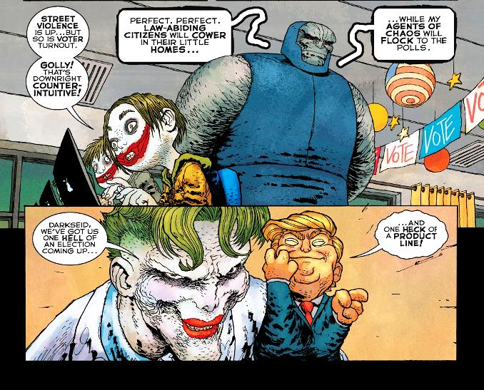 dark knight returns golden child frank miller joker donald trump darkseid