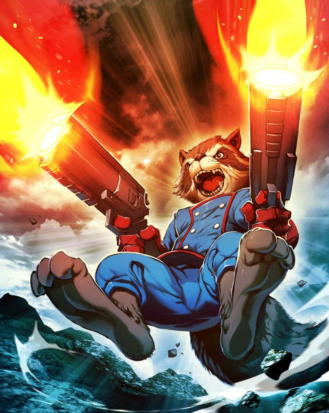 personnages Marvel préférés rocjet racoon