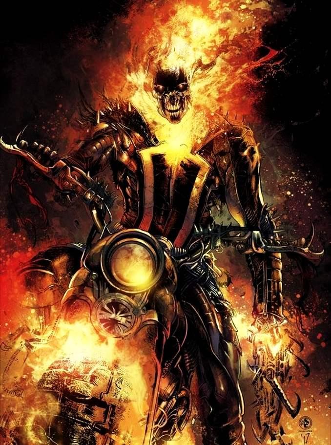 personnages Marvel préférés ghost rider