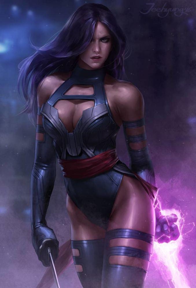 personnages Marvel préférés psylocke