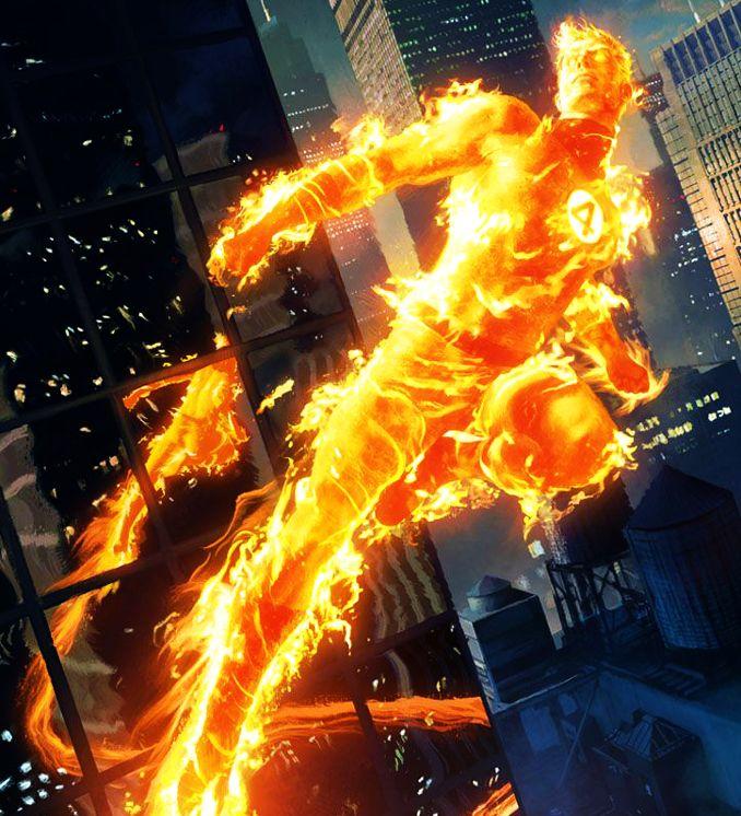 personnages Marvel préférés torche humaine johnny storm
