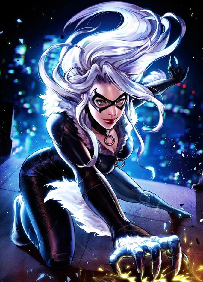 personnages Marvel préférés black cat