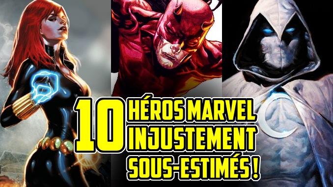 héros Marvel Comics sous-estimés