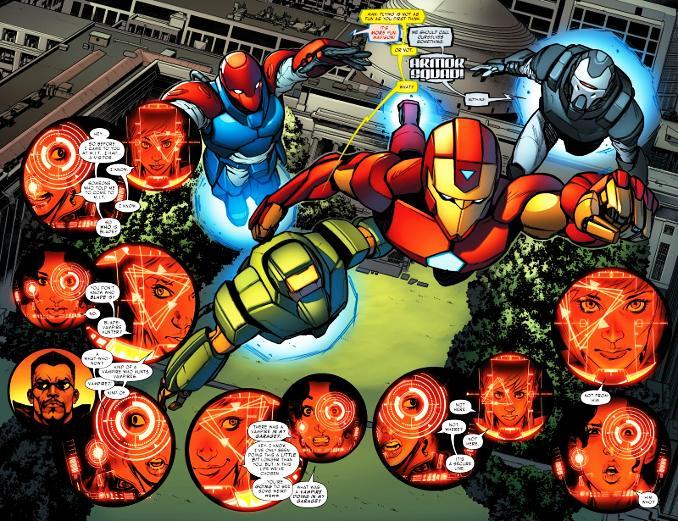 invincible iron man tome 2 armor squad