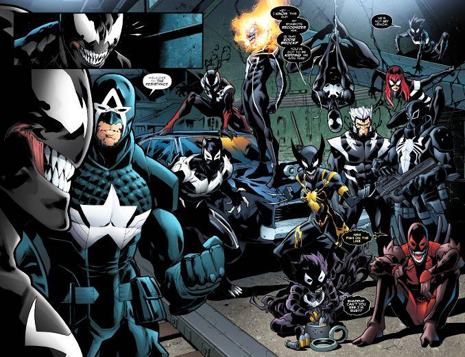 Venomverse héros marvel venomisés