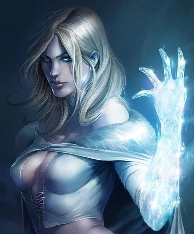 superhéros pouvoirs améliorés marvel dc emma frost