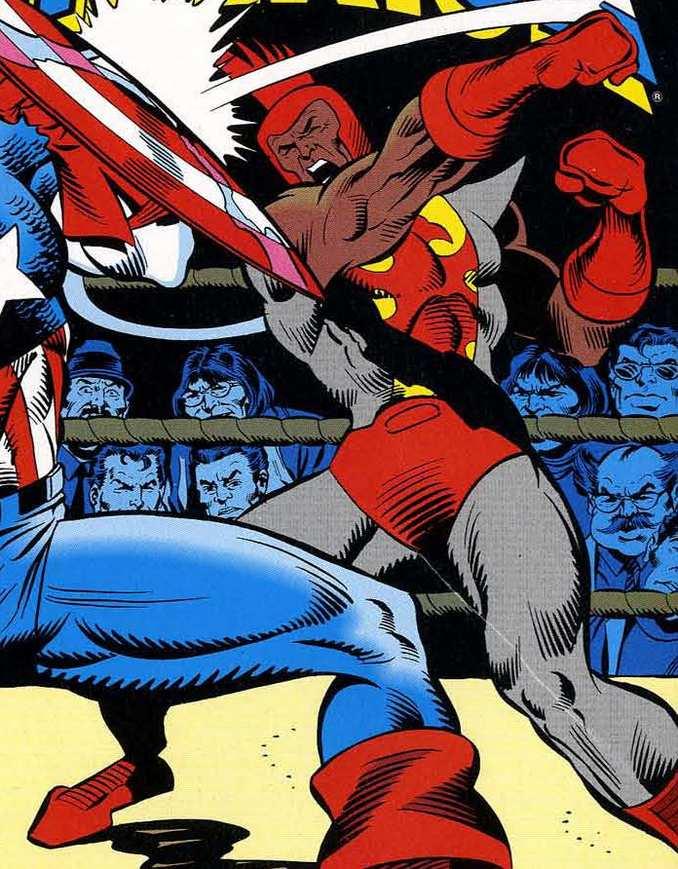 Bantam Captain America boxeur