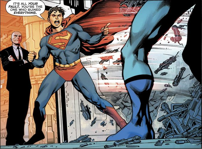 Dark Infinite Crisis Lex Luthor Superboy Prime Blue Beetle