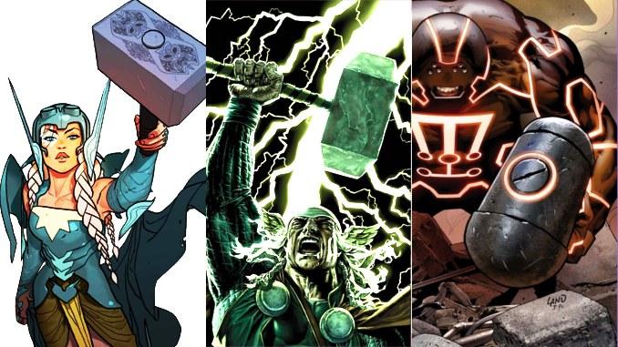 Top Comics - Page 6 Thor-les-15-marteaux-enchantes-du-dieu-de-la-foudre-de-marvel-comics-et-de-son-entourage