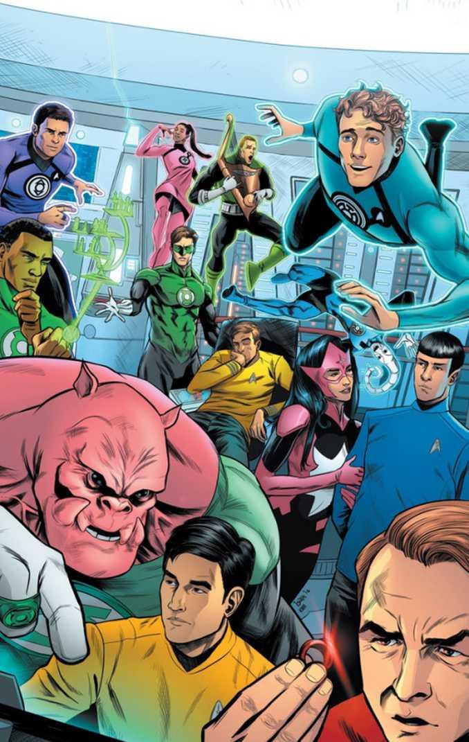 Star Trek & Blue & Green Lantern