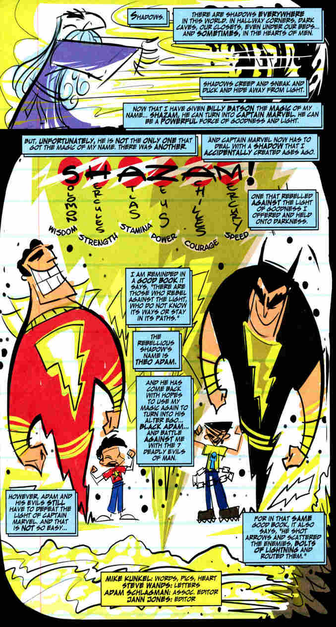Captain Marvel & Black Adam by Mike Kunkel