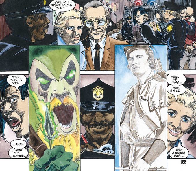 Green Arrow selon les témoins et les suspects
