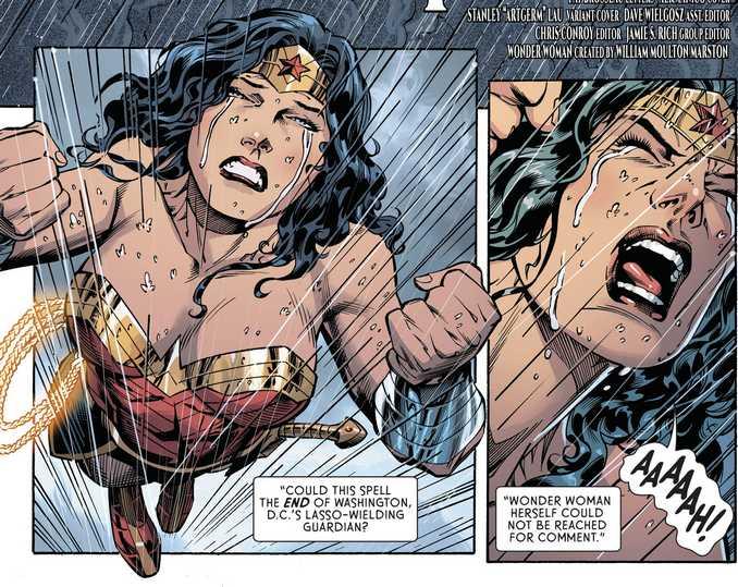 Wonder Woman désespérée